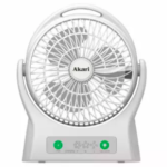 Akari ARF-7605 Rechargeable Desk Fan with LED Light