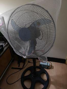 洗濯ネット付き扇風機