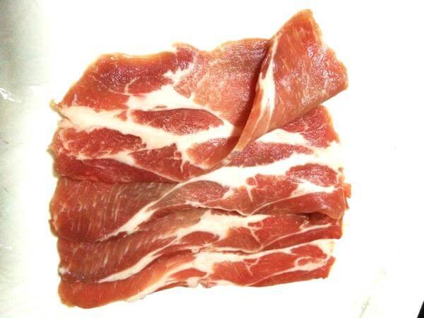 マニラのお肉の買い方 薄切り