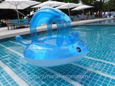 屋根付きの浮き輪 Intex baby float