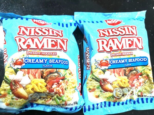 ニッシンラーメン クリーミーシーフードNissin Ramen Creamy Seafood