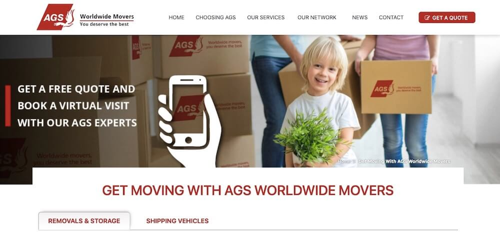 AGS Moversトップページ