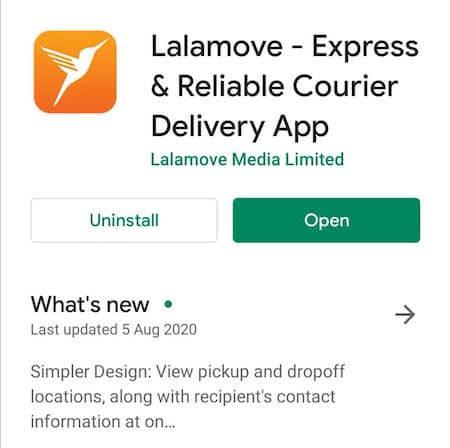 Lalamoveララムーブアプリページ